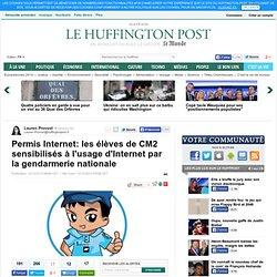 Permis Internet: les élèves de CM2 sensibilisés à l'usage d'Internet par la gendarmerie nationale