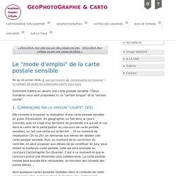 """Le """"mode d'emploi"""" de la carte postale sensible - GeoPhotoGraphie & Carto"""