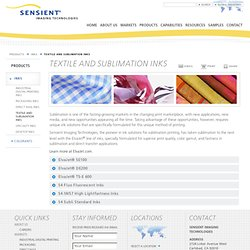 Sensient Inks - Textile and Sublimation Inks