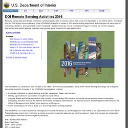 DOI Remote Sensing Activities 2016