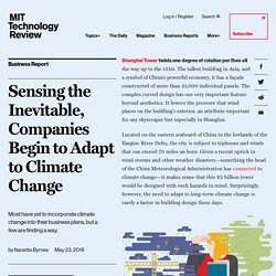Sensing the Inevitable, Companies Begin to Adapt to Climate Change