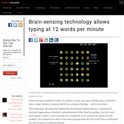 Brain-sensing technology allows typing at 12 words per minute – Science Bulletin