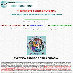 Remote Sensing Tutorial Overview