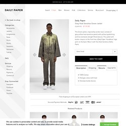 Grey Heat Sensitive Green Jacket – Daily Paper