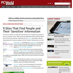 9 Sites That Find People and Their 'Sensitive' Information