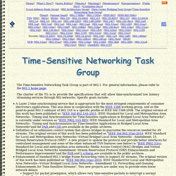 IEEE 802.1 Time-Sensitive Networking Task Group