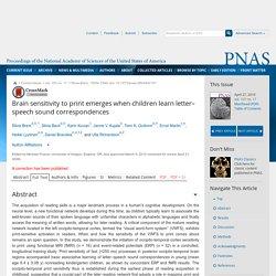 Brain sensitivity to print emerges when children learn letter–speech sound correspondences