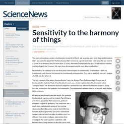 Sensitivity to the harmony of things