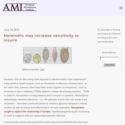 Helminths may increase sensitivity to insulin — The American Microbiome Institute