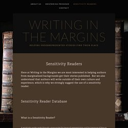 Sensitivity Readers — Writing in the Margins