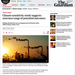 Climate sensitivity study suggests narrower range of potential outcomes