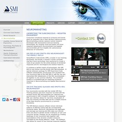 SensoMotoric Instruments GmbH > Gaze and Eye Tracking Systems > Applications > Neuromarketing