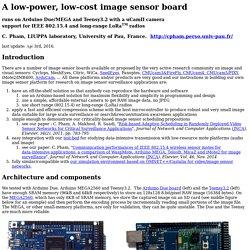 An image sensor board based on Arduino Due and uCamII camera