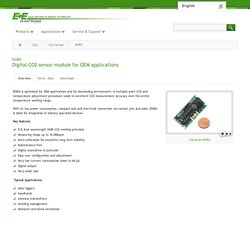 CO2 sensors for OEM / HVAC applications by E+E
