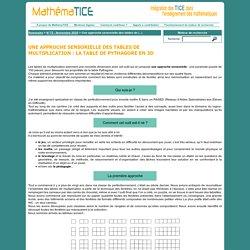 Une approche sensorielle des tables de multiplication : la table de Pythagore en 3D