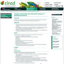 Analyse sensorielle des chocolats (niveau 2 - perfectionnement) - CIRAD