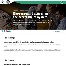 CSIRO - 2015 - Bio-sensors: discovering the secret life of oysters