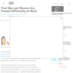 We Asked Men and Women to Wear Sensors at Work. They Act the Same but Are Treated Very Differently
