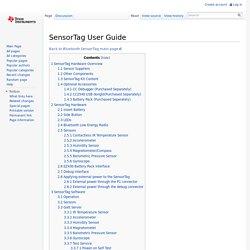 SensorTag User Guide