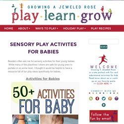 Sensory Play Activites for Babies
