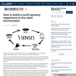 How to build a multi-sensory experience in the retail environment
