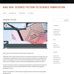 MAS S65: Science Fiction to Science Fabrication
