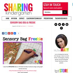Sensory Bag Idea & Freebie - Sharing Kindergarten