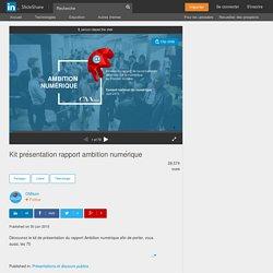 Kit présentation rapport ambition numérique