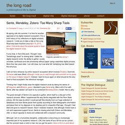 Sente, Mendeley, Zotero: Too Many Sharp Tools - The Long Road