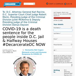 Mayor Bowser..#DecarcerateDC NOW