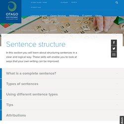 Sentence structure » Otago Polytechnic