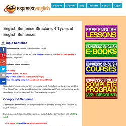 English Sentence Structure: 4 Types of English Sentences