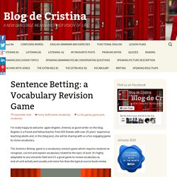 Sentence Betting: a Vocabulary Revision Game