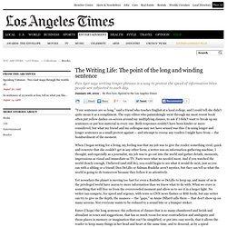 A long sentence is worth the read - latimes.com