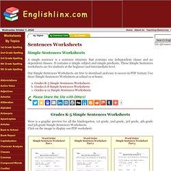Simple Sentences Worksheets