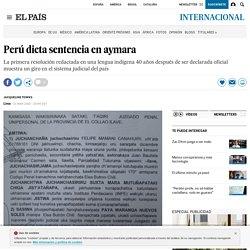 Perú dicta sentencia en aymara