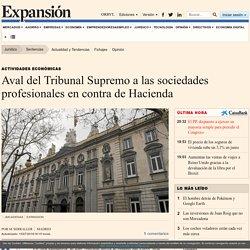 Sentencias: Aval del Tribunal Supremo a las sociedades profesionales en contra de Hacienda