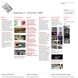 Toward the Sentient City » September 17 – November 7, 2009
