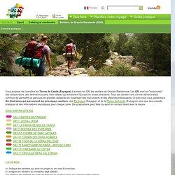 Espagne - Sentiers de Grande Randonée (SGR)