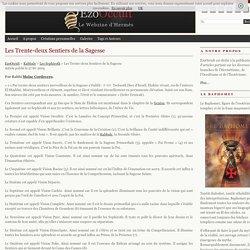 Les Trente-deux Sentiers de la Sagesse « Les Sephiroth « Kabbale