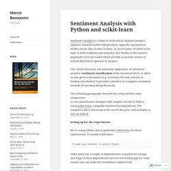 Sentiment Analysis with Python and scikit-learn – Marco Bonzanini
