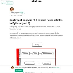 Sentiment analysis of financial news articles in Python (part 1)
