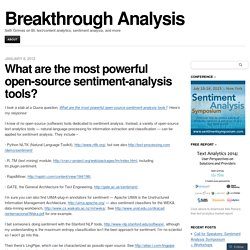 What are the most powerful open-source sentiment-analysis tools?