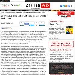 La mont e du sentiment conspirationniste en France - AgoraVox le m dia citoyen