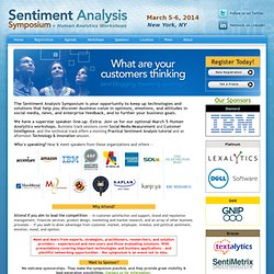 Sentiment Analysis Symposium