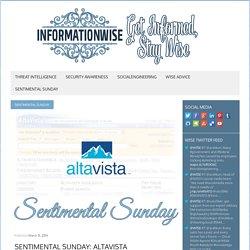 Sentimental Sunday: AltaVista