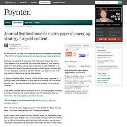 Journal Sentinel models metro papers' emerging strategy for paid content