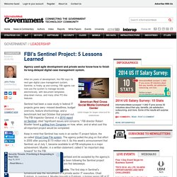 FBI's Sentinel Project: 5 Lessons Learned