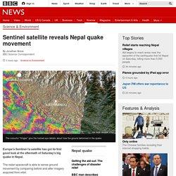 Sentinel satellite reveals Nepal quake movement - BBC News