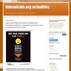 Infosuicide.org actualités: AQUITAINE LIMOUSIN POITOU CHARENTES « Sentinelles et référents », Campagne de prevention contre les violences scolaires au lycée